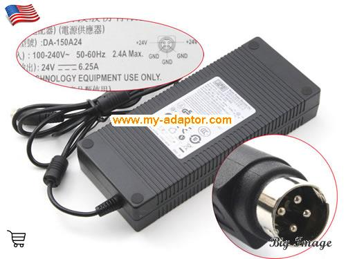 APD USA Genuine New APD DA-150A24 24V 6.25A 150W Power Supply  Laptop AC Adapter Power Adapter Laptop Battery Charger