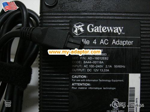 GATEWAY USA Genuine GATEWAY 12V 13.33A ADP-160AB AC Adatper For Profile 4  Laptop AC Adapter Power Adapter Laptop Battery Charger