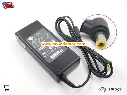 MT6456 Laptop AC Adapter, GATEWAY 19V-4.74A-MT6456 Power Adapter, MT6456 Laptop Battery Charger