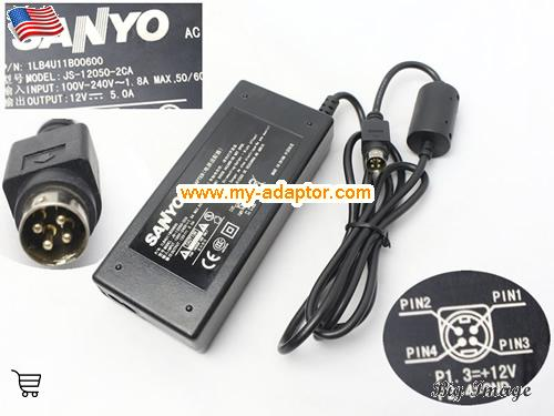 CLT2054 Laptop AC Adapter, SANYO 12V-5A-CLT2054 Power Adapter, CLT2054 Laptop Battery Charger