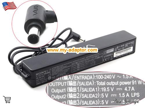 VGN-FJ1Z/W Laptop AC Adapter, SONY 19.5V-4.7A-VGN-FJ1Z/W Power Adapter, VGN-FJ1Z/W Laptop Battery Charger