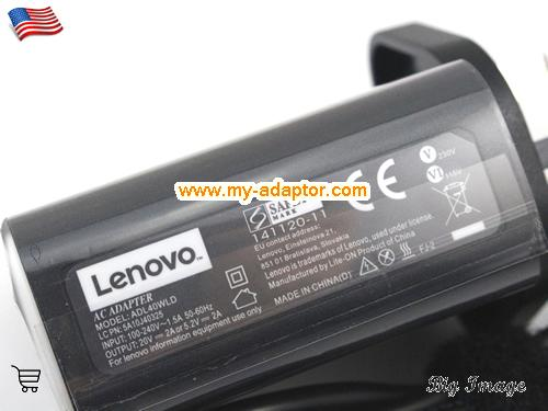 image 5 for  LENOVO USA New Genuine LENOVO YOGA 3 PRO ULTRABOOK Ac Adapter 20V 2A 40W  Laptop AC Adapter Power Adapter Laptop Battery Charger LENOVO20V2A40W-UK-CORD