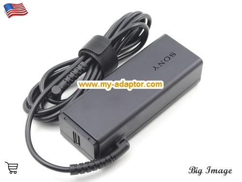 image 4 for  SONY USA Genuine Sony VGP-AC19V74 VGP-AC19V73 Adapter For VAIO Fit 13A SVT11 SVT13 Vaio TAP 11 SVF13N SVT11219 SVF13N1C4RB SVF13N17PG Series Laptop AC Adapter Power Adapter Laptop Battery Charger SONY19.5V2A44W-USB